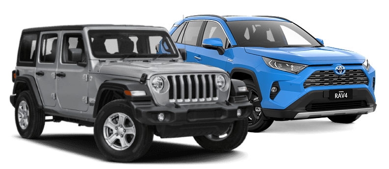 Jeeps and Toyota Rav 4 available even with bad credit